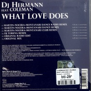 WHAT LOVE DOES (CD)