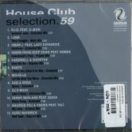 HOUSE CLUB SELECTION 59 (CD)