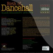 BIRTH OF DANCEHALL - BLACK SOLIDARITY 1976-79 (LP)