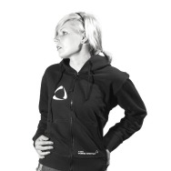 Girl Zip up Hoodie (Black) Time Warp