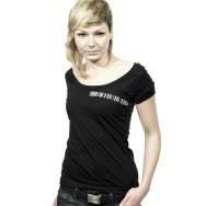 Minus Contact Barcode Girl Shirt (Black)