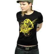 Serial Killaz Girl Shirt (Black / Yellow Print)
