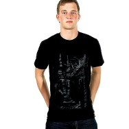 Trentemoeller Round Neck Shirt (Black / Black Print)