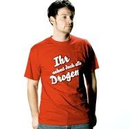 Die Aerzte - Ihr nehmt doch alle Drogen Shirt (Red)