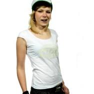 Warp Rec Logo Girl Shirt (white)