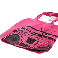 Ghettoblaster Jutebag (Pink)