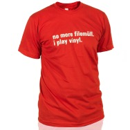 I Play Vinyl Shirt (Red / White Print)
