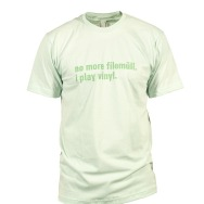 I Play Vinyl Shirt (Light Green / Green Print)