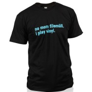 I Play Vinyl Shirt (Black / Blue Print)