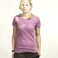 Chapeau Claque Girl Shirt Bird (Pink)