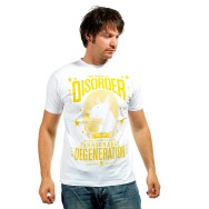 Disorder Shirt (White / Yellow Print)