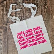 Bumtschick Jute Bag (White / Magenta)