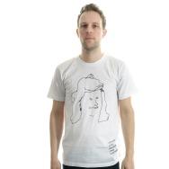 Gerlinde T-Shirt By Stefan Marx (White/Black Print)