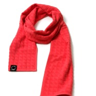 Punchi Towelling Scarf (Hot Red)