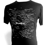 Jeff Mills - PLANETS Words Shirt (Black)