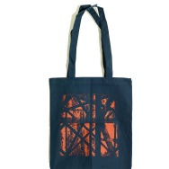 Delsin TOTE Bag (Orange on Navy Blue)