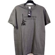 Lockermatik Records T-Shirt (Black Logo on Grey)