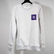 Warp Sweatshirt (Purple Logo on Melange-Grey)