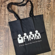 Clone TOTE Bag (White on Black)