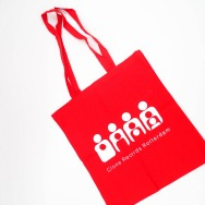 Clone TOTE Bag (White on Red)