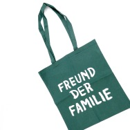 Freund der Familie TOTE Bag (White on Green)