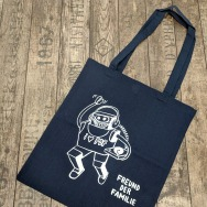 Freund der Familie TOTE Bag (White on Navy Blue)