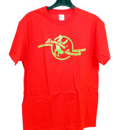 Breakin Records T-Shirt (Green Logo on Red)