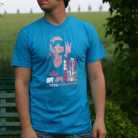 S-score Electrorave Shirt (Bright Blue / Teal)