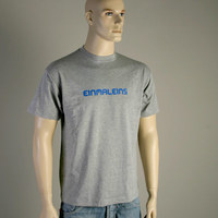 Einmaleins Man-Shirt (grey with blue labelname)