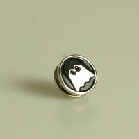 Ghostly Label Pin