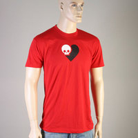 Death is Nothing to Fear SkullHeart Tee (red)