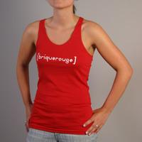 Girl Brique Rouge Racerback Tank Top (Red)