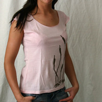 Delon & Dalcan Girl Tank (Pink / Brown Logo)
