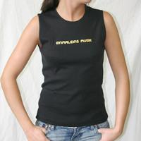 Einmal Eins Musik Girl Tankshirt (Black / Gold Print)