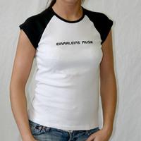 Einmal Eins Musik Girl Logoshirt (White - Black)