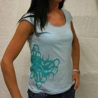 Kalimari Girl Logo Shirt (Sky Blue / Green Logo)