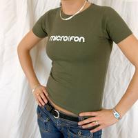 Microfon Girlie Shirt oliv