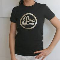 Soma Records Girlshirt (Black / Gold Print)