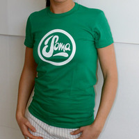 Soma Records Girlshirt (Kelly Green / White Print)