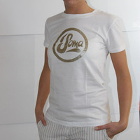 Soma Records Girlshirt (White / Gold Print)