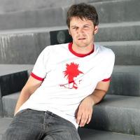 Goog Extra Ringershirt (White / Red)
