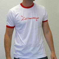 Karmarouge Ringershirt (White / Red)