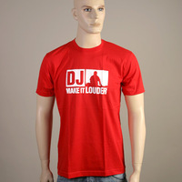 DJ - Make It Louder Logoshirt (Red)