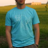 Mos Ferry Dog Logo Shirt (Blue)