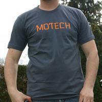Motech Logoshirt (Asphalt / Orange Logo)