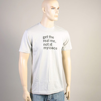 Get The Real Me Not At Myspace Shirt (Light Gray)