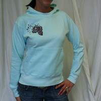 Northern Lite Unisex Hooded Girl Sweater (Light Turquoise / Black Logo)