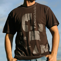 Peppermint Jam Boy Shirt Brown