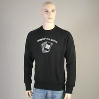 Pokerflat Sweatshirt (Black / Playin the game)