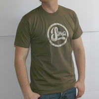 Soma Labelshirt (Army / Gold Print)